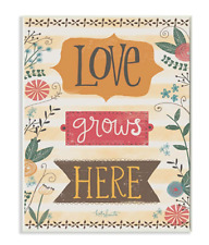 Stupell Industries Love Grows Here Autumn Colors Wall Plaque Art Multi-Color