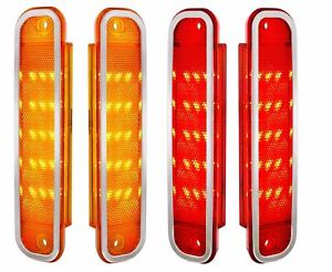 United Pacific Front and Rear LED Marker Light Set 1973-1980 Chevy GMC Truck