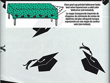 Graduation Mortar Board Plastic Tablecover clear to put colour under FREE P&P