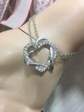 g NWT Swarovski Starlet Heart Double Strand Silver Bracelet