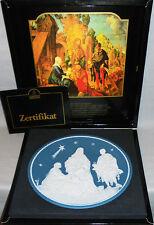 -MIB- 1978 -Mettlach- Vintage Villeroy & Boch Jesus Jasperware Charger/Plate