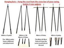 Garden swing replacement bars, hanging poles for garden swing seat Black