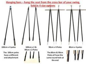 Garden swing replacement swing bars, hanging poles for garden swing seat Black