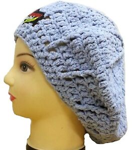 WARM HAT SLOUCHY BERET CAP CROCHETED FLUFFY HATS WOMENS