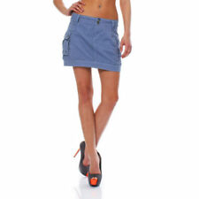 Faldas de mujer Mini color principal azul 100% algodón