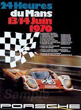 LM02 VINTAGE PORSCHE LE MANS 1970 RACING A2 POSTER PRINT