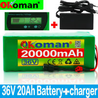 36V 20Ah Lithium Ion Pack Ebike Battery for 500W Electric Bicycle Motor
