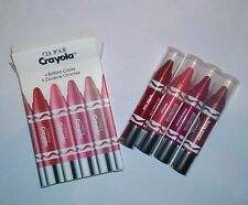 Clinique Crayola Chubby Stick 4 Pc Set Lipstick Balm, Fuzzy Wuzzy, Melon - NIB
