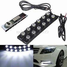 2pcs 6 LED Soft Strip Daytime Running Light DRL Auto Car Eagle Eye Fog Lamp NEW