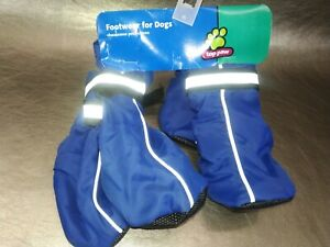 Top Paw Footwear Booties blue Reflective Hard Sole Neoprene Dog Boots (large)