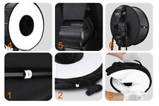"45cm 18"" Macro Ring Circular Round Softbox Reflector For Flash Light Speedlight"