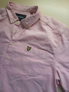 Mens Lyle & Scott Pink Cotton Short Sleeve Polo Shirt Size XL