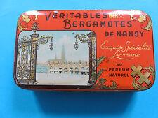 Ancienne boîte en fer Bergamotes de NANCY place Stanislas 1940 Croix de Lorraine