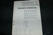 VOLVO PENTA Diesel Engine Parts Manual book catalog list marine boat motor spare
