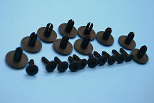 Audi Negro Plástico Remache Panel guarnecido de retainer/fasteners Clips