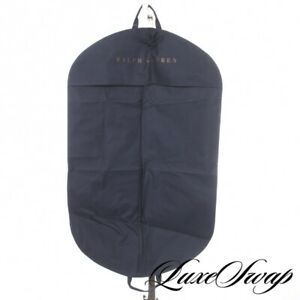 LNWOT Ralph Lauren Signature Blue Ballistic Twill Canvas Suit Jacket Garment Bag