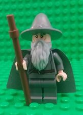 Lego Gandalf the Grey LOTR Minifigure Figure Staff Hat Beard Cape Fig x 1