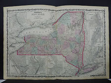 Antique Map Johnson's, 1862 Double Page, New York M10#53