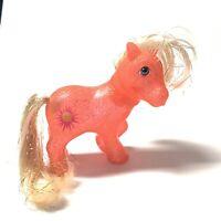 Vintage My Little Pony G1 SUNSPOT Sparkle ponies 1984 Orange Hair Glitter