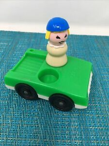 Fisher Price Vintage Little People PERSON AND CAR
