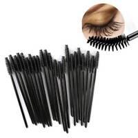 50pcs Eyelash Eye Lashes Make Up Brushes Black Disposable Mascara Wand Brush
