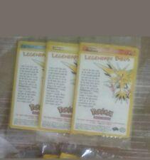 Sealed Pokemon Moltres Zapdos Articuno Legendary Birds Movie Promo Black Star