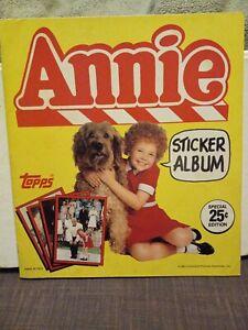 1981 Annie Sticker Book Complete Set