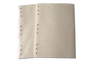 9 Hole Lined Papers suitable for Deskfax B5 size 176mmx250mm  100 pages
