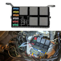 Universal 6 Way Auto Car Fuse Holder Box With 6PCS Spade Terminals Fuses Relays