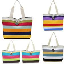 Vogue Womens Colorful Shopping Bag Handbag Shoulder Beach Canvas Bag Totes Purse