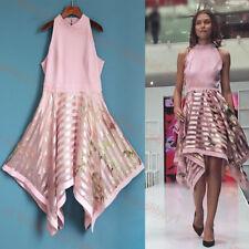 Ted Baker Angelik Harmony Burnout Metallic Striped Dress 3,4