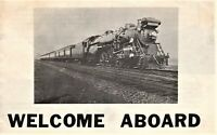 Vintage Railroad Welcome Aboard advertising booklet & Ticket Railroad High Iron