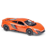 1:36 McLaren 675LT Sports Car Model Diecast Toy Vehicle Pull Back Orange Kids