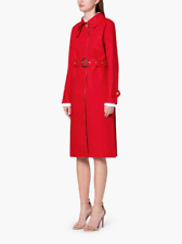 MACKINTOSH RED & FAWN BONDED COTTON SINGLE-BREASTED TRENCH COAT SIZE - UK 10 (M)