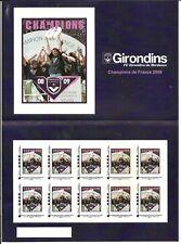 BLOC  DE 10  timbres autocollants GIRONDINS  NEUF non plier