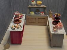 Dollhouse Miniature Faux Marble Pastry Shop Counter Set 1:12 G71 Dollys Gallery