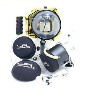 SPL Underwater Surf Housing for Nikon D800 w/ 3x Ports 14-24mm 70-200mm Pistol