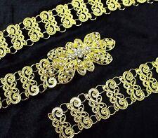 VINTAGE THAI TRADITIONAL COSTUME WOMEN GOLD PLATED BELT FASHION CHAIN WEDDING