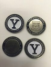 Yale Bulldogs Ball Marker Set of 4 markers:  fits hat clip divot tool