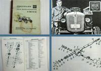 Lanz Hela D138 D45 Diesel Schlepper Ersatzteilliste Ersatzteilkatalog