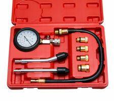 8 Pcs 1 Set Petrol Engine Cylinder Compression Tester Kit Gauge Tool Automotive