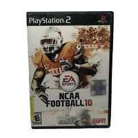 NCAA Football 10 (Sony PlayStation 2 PS2, 2009) Complete w/ Manual Tested Works