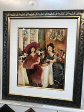 "Loren Grey Original encaustic on paper framed "" The conversation """