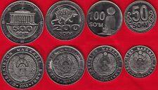 NEW! Uzbekistan set of 4 coins: 50 - 500 som 2018 UNC