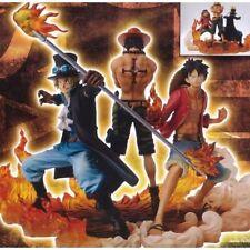 Anime POP One Piece 3pcs DXF Brotherhood II Luffy Sabo Ace PVC Figure New in Box