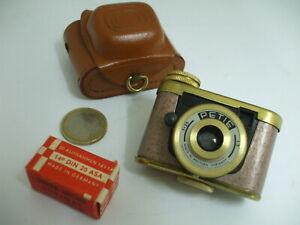 Minuscule Appareil Photo Petie couleur 'mauve rosé' film en place + sa boite