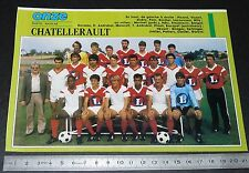 CLIPPING POSTER FOOTBALL 1987-1988 D2 SO CHATELLERAULT SOC LA MONTEE ROUGE