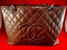 Chanel Brown Caviar Quilted Leather Grand Shopping Tote