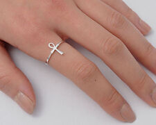 Silver Ankh Cross Ring Sterling Silver 925 Best Deal Plain Jewelry Gift Size 2