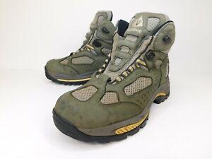 Vasque Breeze Gore Tex XCR Mens Leather Hiking Trail Green Boots Sz 9 No Laces